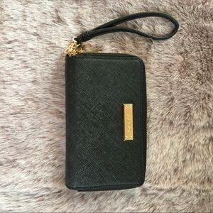 ALDO saffiano leather wristlet two-sided